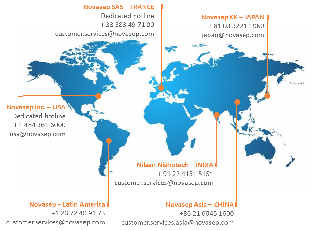 Novasep Customer Service Worldwide
