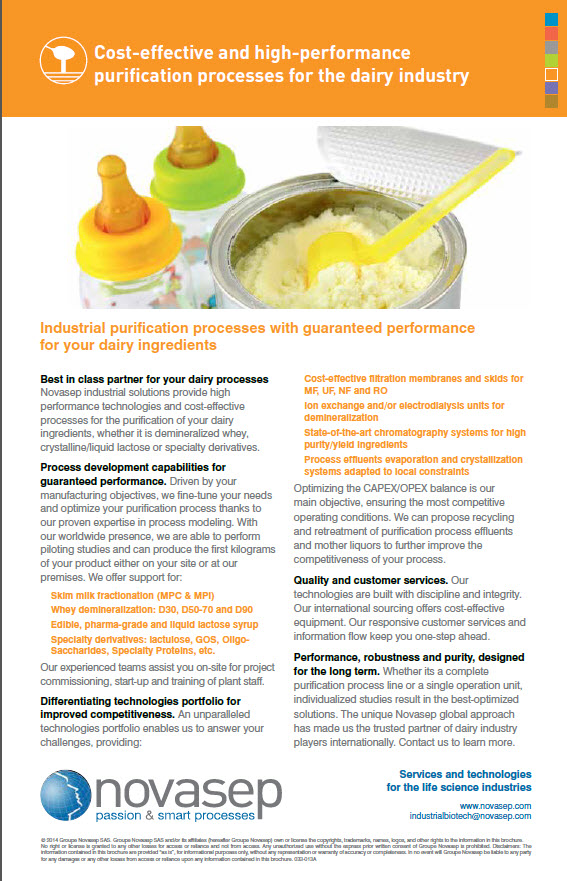 Global offer for dairy ingredients